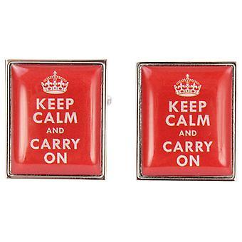 Zennor garder son calme et continuer sur les boutons de manchette - rouge