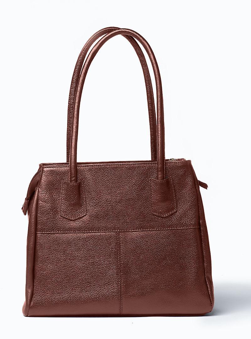 Viver Athena Brown Leather Shoulder Bag