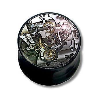 Ear Plug Piercing, corpo gioielli, meccanismo ad orologeria | 6 - 16 mm