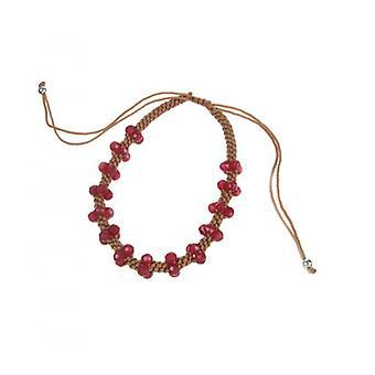 Cavendish francese Plait amicizia Bracciale con perle di quarzo rosso