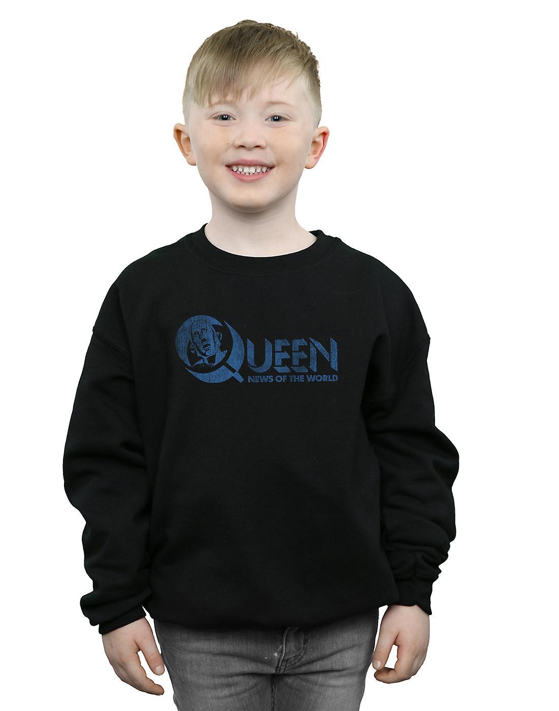 Queen Boys Distressed News Of The World Sweatshirt