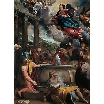 L'Assomption de la Vierge, Annibale Carracci, 50x40cm