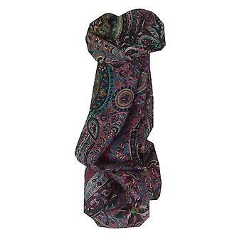 Mûrier rouge de Puri soie longue écharpe traditionnelle par Pashmina & soie