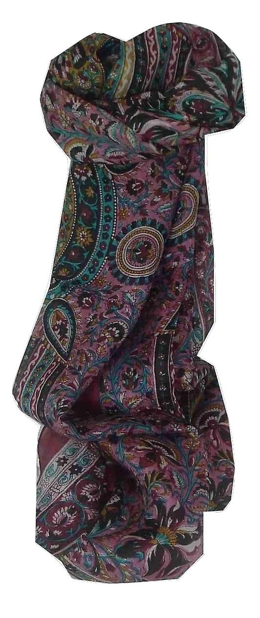 Mulberry Silk Traditional Long Scarf Puri Red by Pashmina & Silk