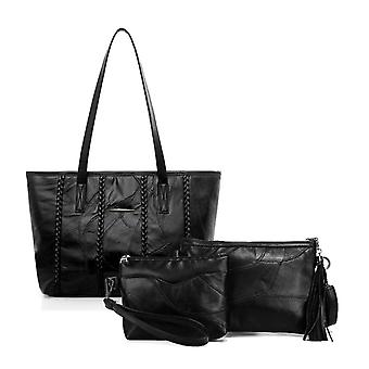 Purse, shoulder bag and cosmetic bag, genuine lambskin 978