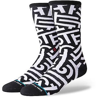 Stance Aaron de la Cruz crew sokken in zwart