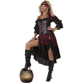 Womens Burlesque Pirate Wench Caribbean Books & Film Fancy Dress Costume