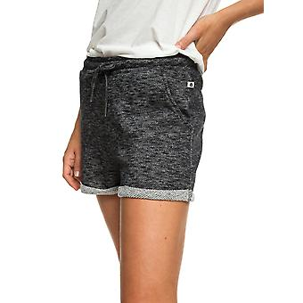 Roxy Womens Trippin Fleece Beach Shorts - True Black