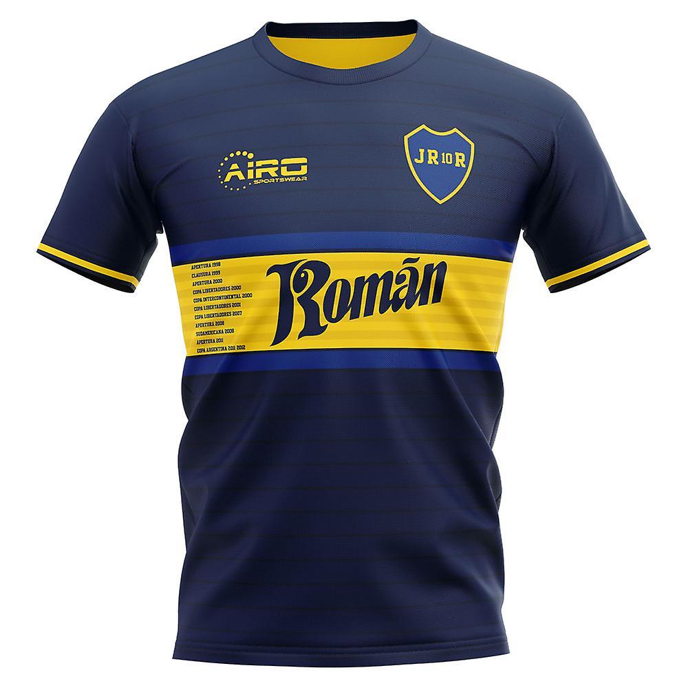 2020-2021 Boca Juniors Juan Roman Riquelme Concept Football Shirt - Adult Long Sleeve