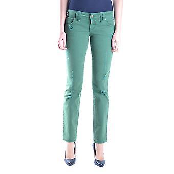 John Galliano Ezbc164052 Women's Green Denim Jeans