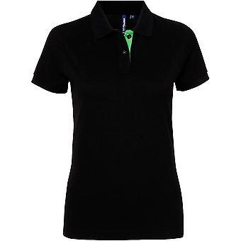Utendørs Look kvinner montert kontrast Polo skjorte