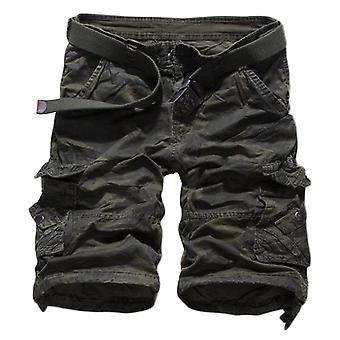 Allthemen męskie krótkie spodnie bawełna kamuflaż casual lato krótkie spodnie