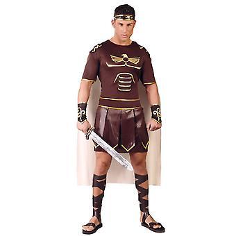 Mens Gladiator Centurion soldaat Fancy Dress kostuum