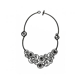 Batucada Skin Jewellery Black Summer Spirals Necklace 8-01-01-03-BLACK