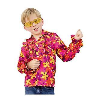 Disfraces infantiles Camisa Disco hippie con estampado para niños