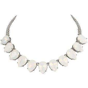 Éternelle Collection séduction larme blanc opale cristal argent Fashion collier