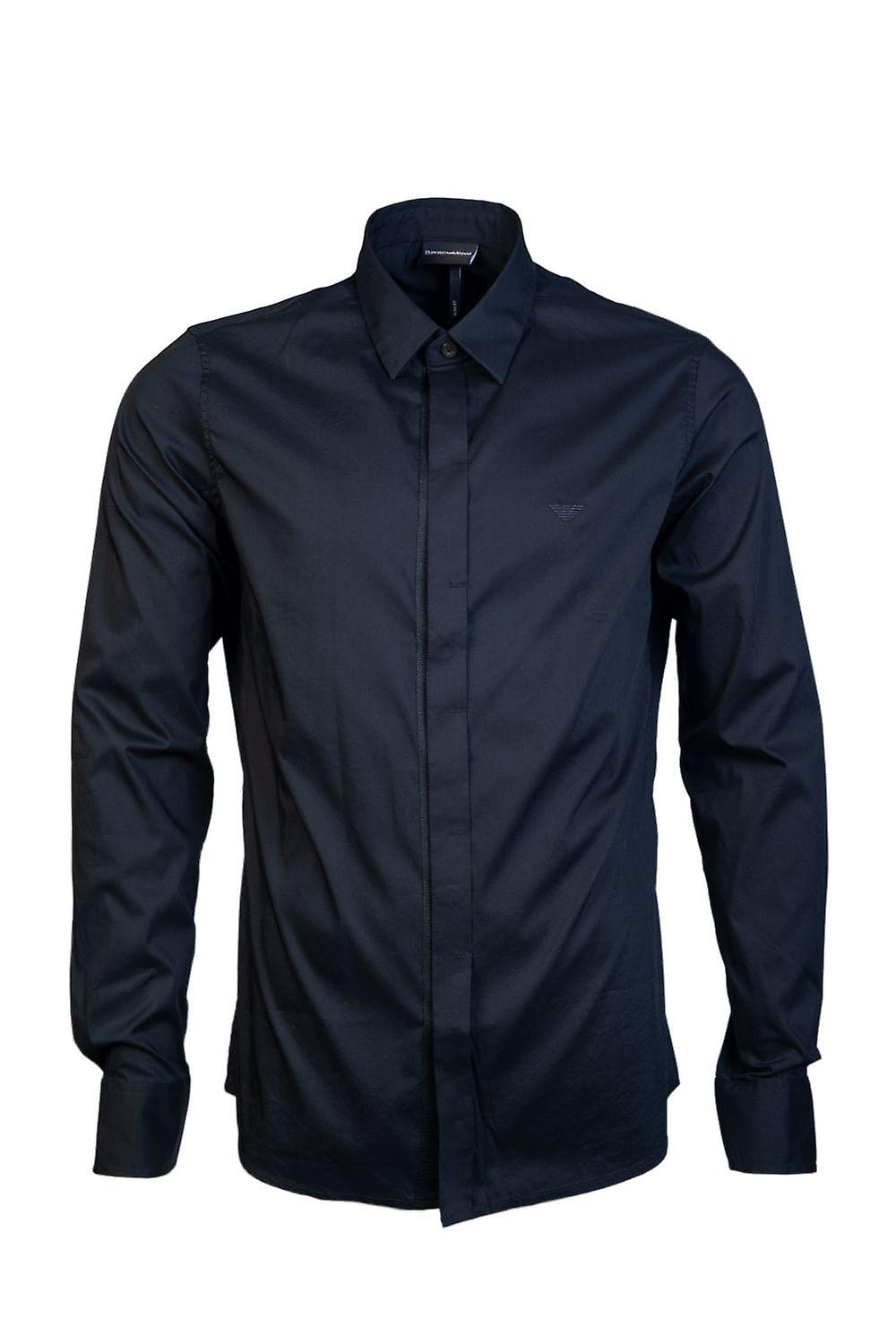 Emporio Armani Business-Regular Collar Shirt 3G1CL4 1NHUZ