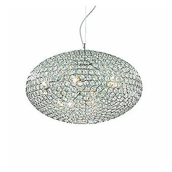 12 Light  Large Ceiling Pendant Chrome