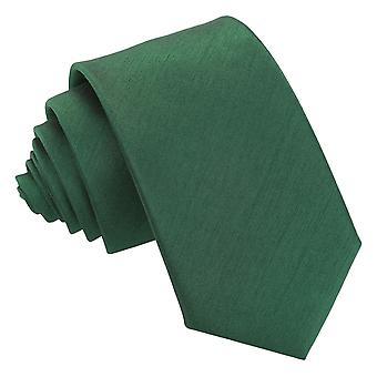 Emerald Green Plain Shantung Slim Tie
