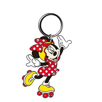 PVC Key Chain - Disney - Minnie Mouse Rollerblade Soft Touch New Licensed 85166