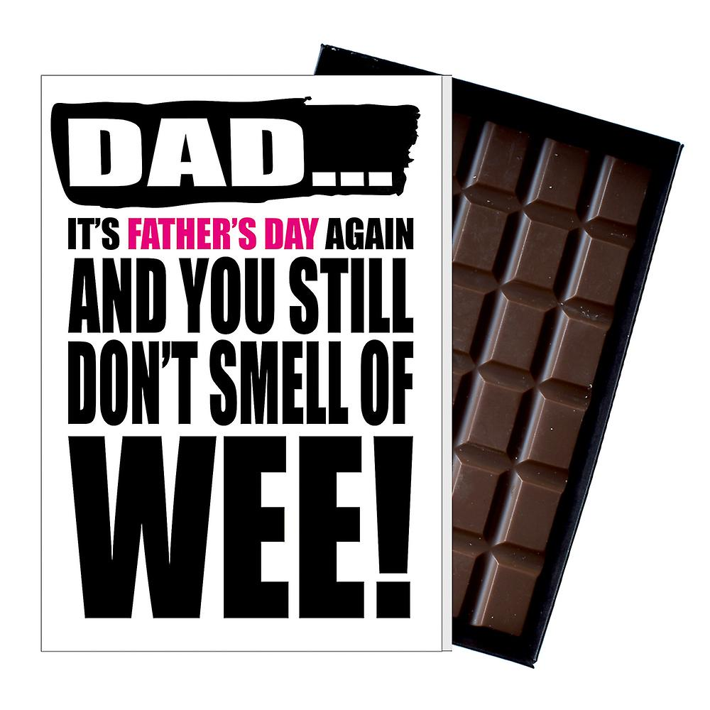 Funny Father's Day Gift Silly Chocolate Present Rude Card For Dad DADIYF109