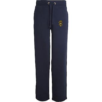 Royal Scots Fusiliers - Licensed British Army Embroidered Open Hem Sweatpants / Jogging Bottoms