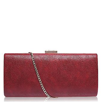 Dune Womens Large Clutch Bag Clip Fastening