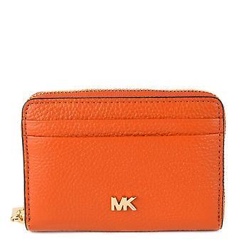 MICHAEL de Michael Kors Mott Burn Orange Zip Around Card Case