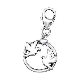 Couple Bird - 925 Sterling Silver Charms With Lobster - W24579x