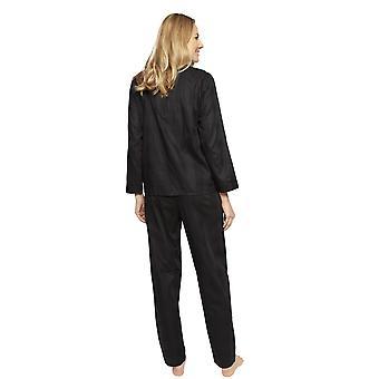 Cyberjammies 1340 vrouwen ' s Nora Rose Violet zwart check katoen pyjama set