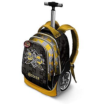 Harry Potter Quidditch Hufflepuff-GT Travel Trolley-Rucksack Casual Backpack - 42 liters - Yellow