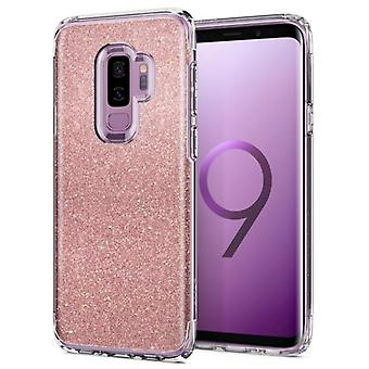SAMSUNG GALAXY S9 PLUS SPIGEN SLIM ARMOR CRYSTAL GLITTER CASE-ROSE QUARTZ