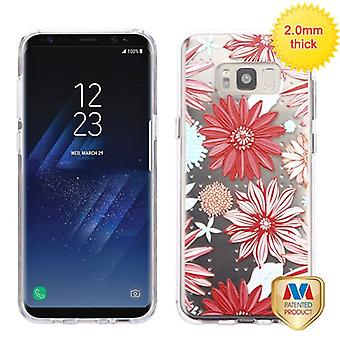 MYBAT Spring Daisies Glassy SPOTS Premium Candy Skin Cover  for Galaxy S8 Plus