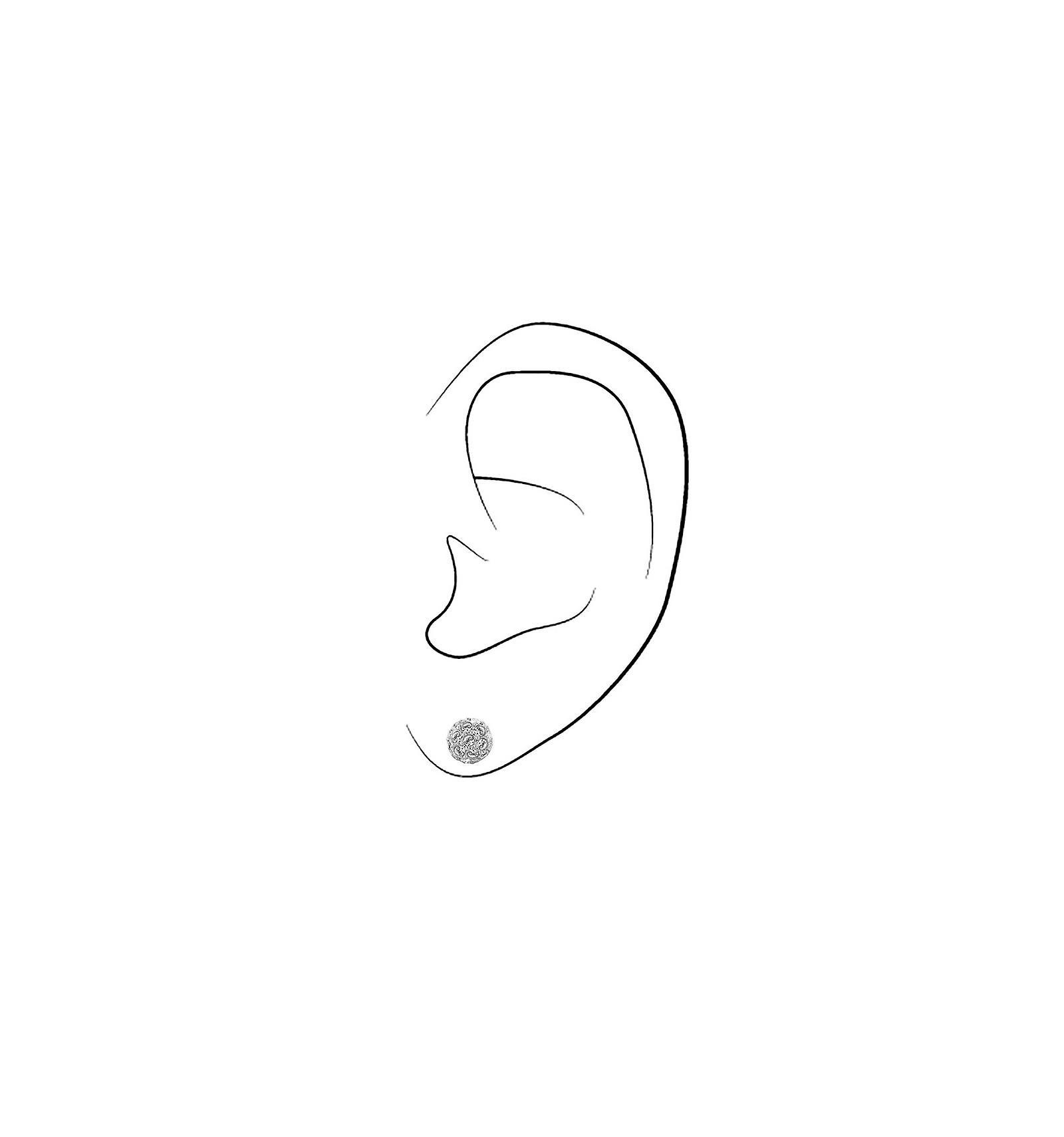 Traveller pierced earring - rhodium plated - Swarovski Crystals - 156142
