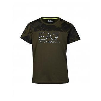 T-shirt do logotipo de Ea7 camo