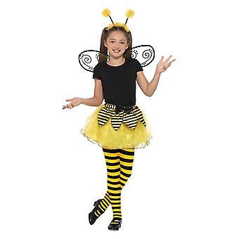 Dievčatá Bumble Bee maškarné šaty Kit: Tutu krídla čelenka