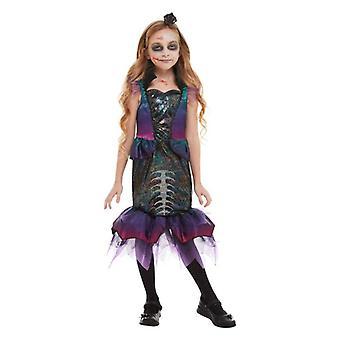 Jenter Halloween Dark Mermaid Fancy Dress drakt