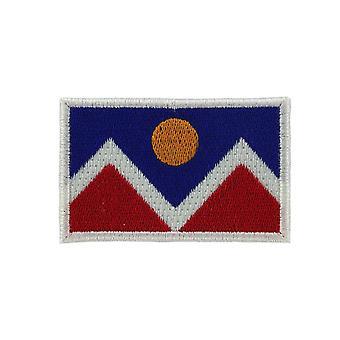 Patch Scusson Brode Flag Denver USA Thermocollant reppu