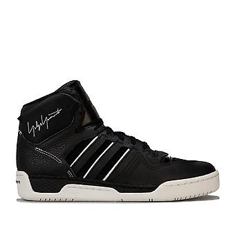 Mens Y-3 Hayworth High Top Trainers In Black White- Lace Fastening- Cushioned