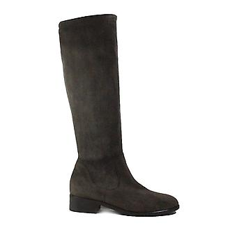Peter Kaiser Heta Grey Suede Leather Womens Pull On Long Leg Boots