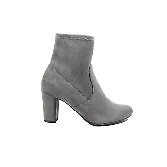 Caprice 25300 Dark Grey Microfibre Suede Womens Heeled Ankle Boots