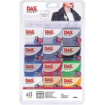 DAS Smart Fashion Style Primary Colours Collection Polymer Clay Set 12 x 27.5g