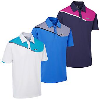 Stuburt Mens Urban Corby Sport Breathable DRI-Back Retro Polo Shirt
