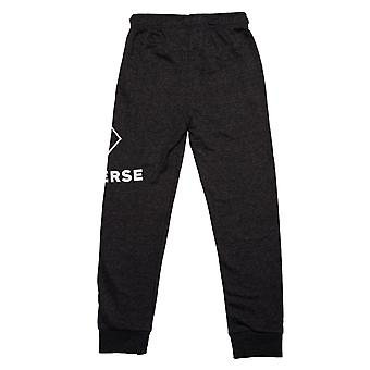 Junior Boys Converse Wrap Around Logo Jog Pants In Black Heather- Ribbed