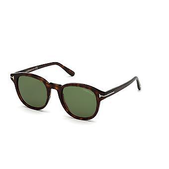 Tom Ford Jameson TF752 52N Dark Havana/Green Sunglasses