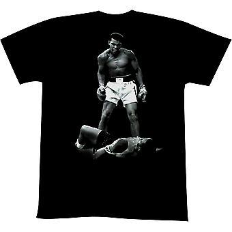 Amerikanische Klassiker Muhammad Ali über Liston T-Shirt - schwarz