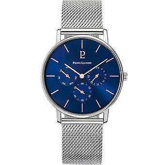 Pierre Lannier CITYLINE 208G 168 - watch Steel Bracelet dial steel case Blue Man