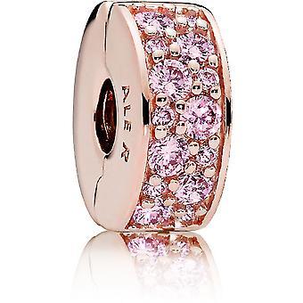 Charm Pandora 781817PCZ - Charm Clip �l�gance Brillante Rose Femme