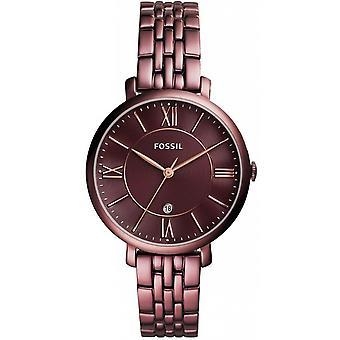 Fossiele ES4100 - JACQUELINE staal Bordeaux vrouw horloge