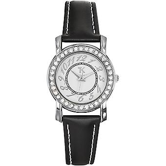 Trendy Kiss TC10056-01 - watch leather white woman